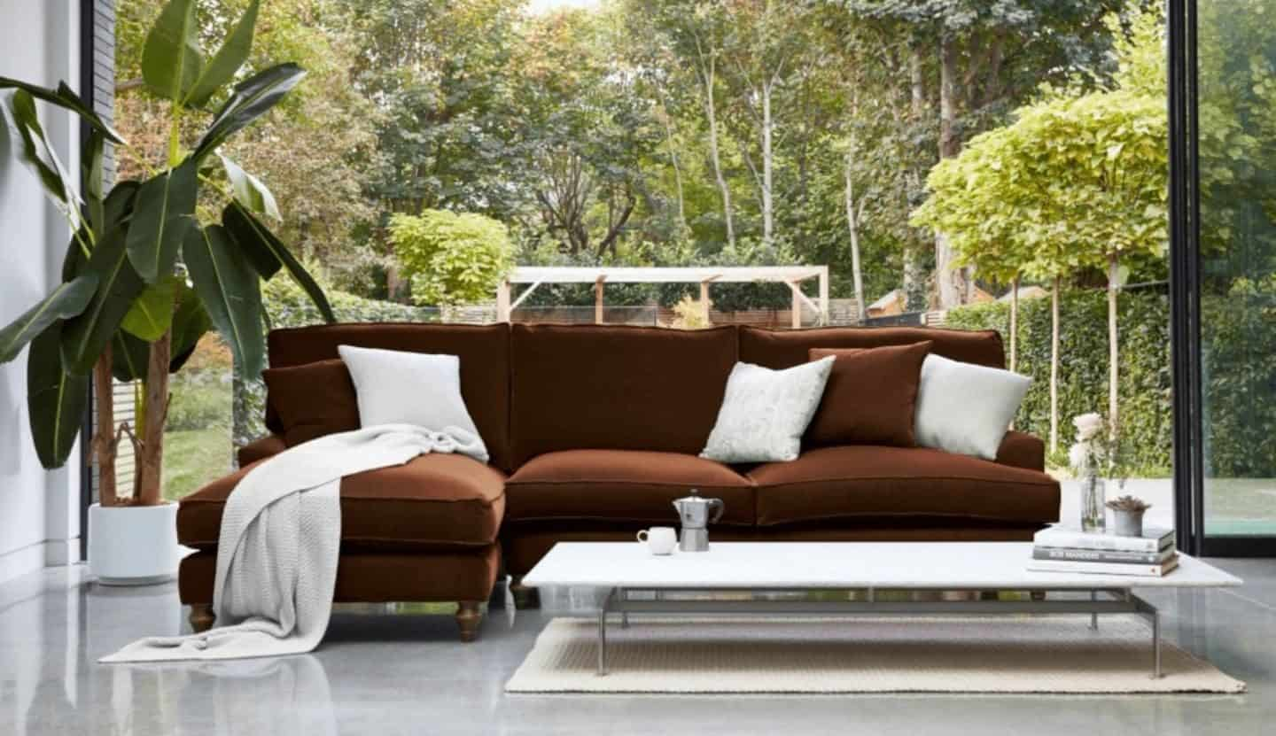 Darlings of Chelsea - Whinfell Chaise Sofa Varese Walnut