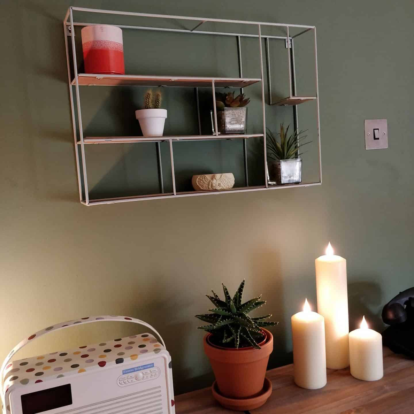 Faux LED candles from Candled on a sideboard 10
