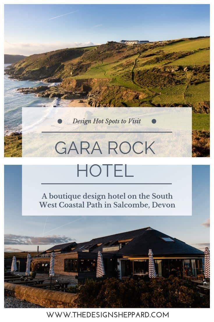 Gara Rock boutique design hotel on the South West Coastal Path in Salcombe Devon UK