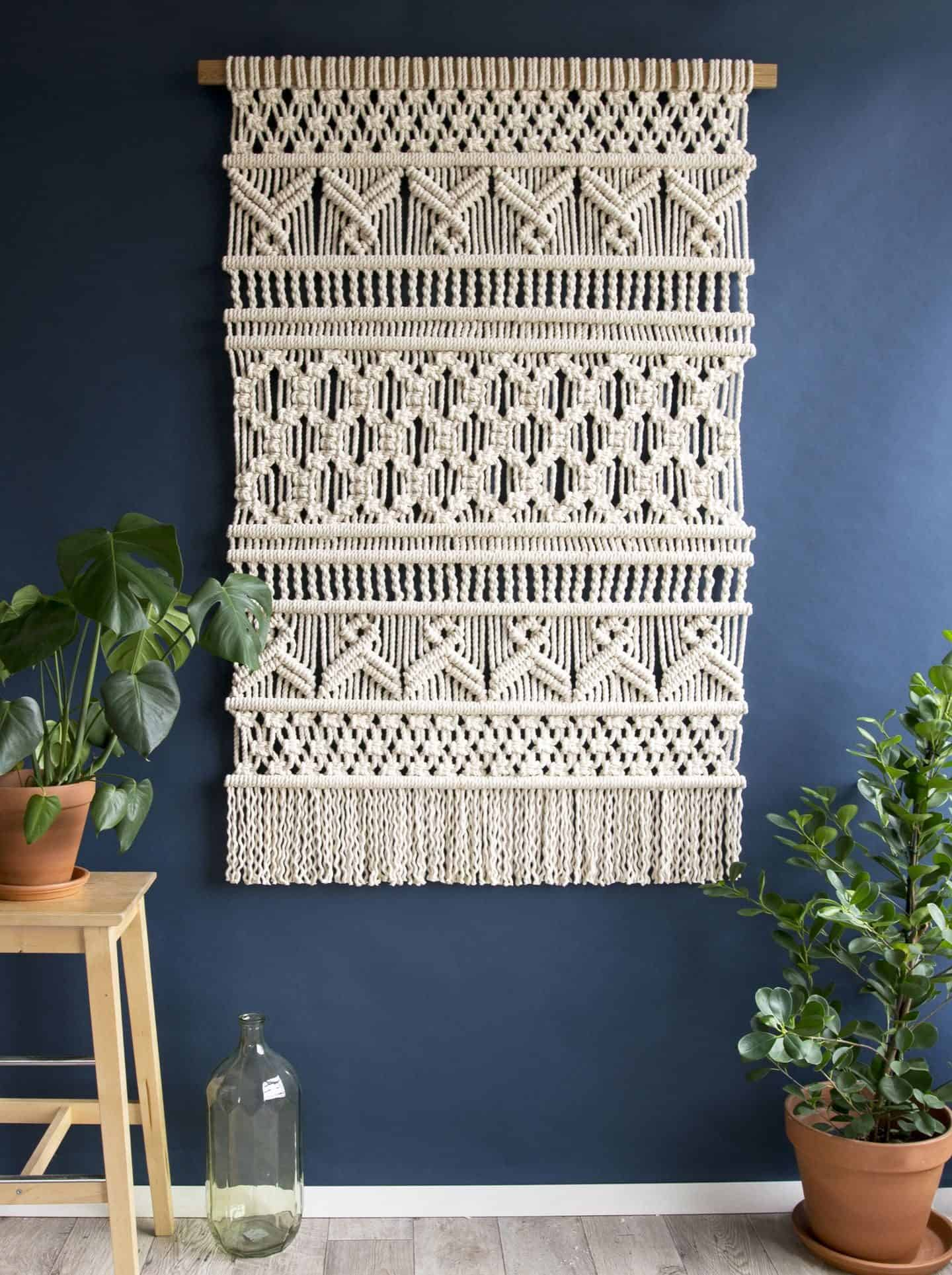 TEDDY AND WOOL contemporary woven wall hanging - Vivian 1