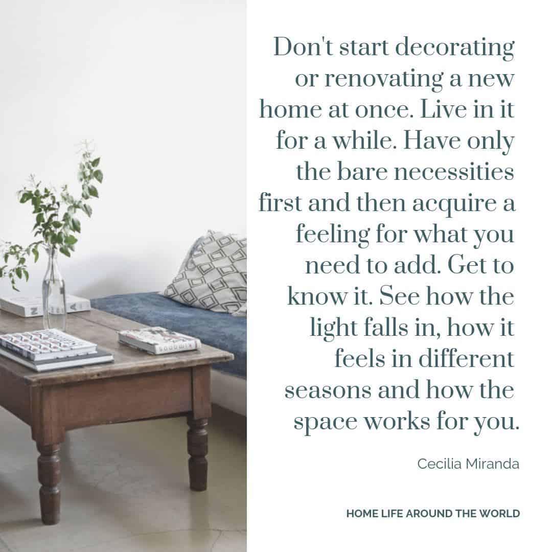 Home Life Around the World - Cecilia Miranda quote