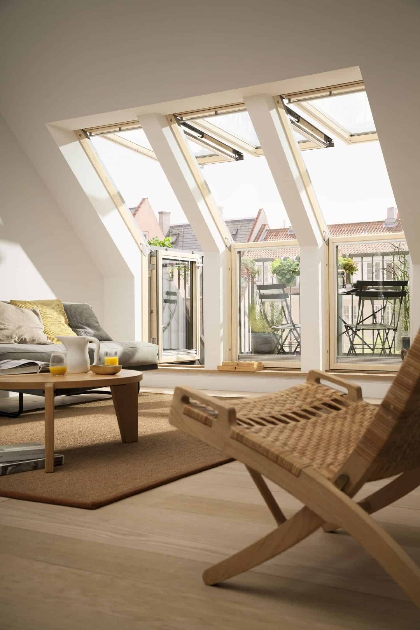 Loft Conversion - Living Room - Velux Terrace interior