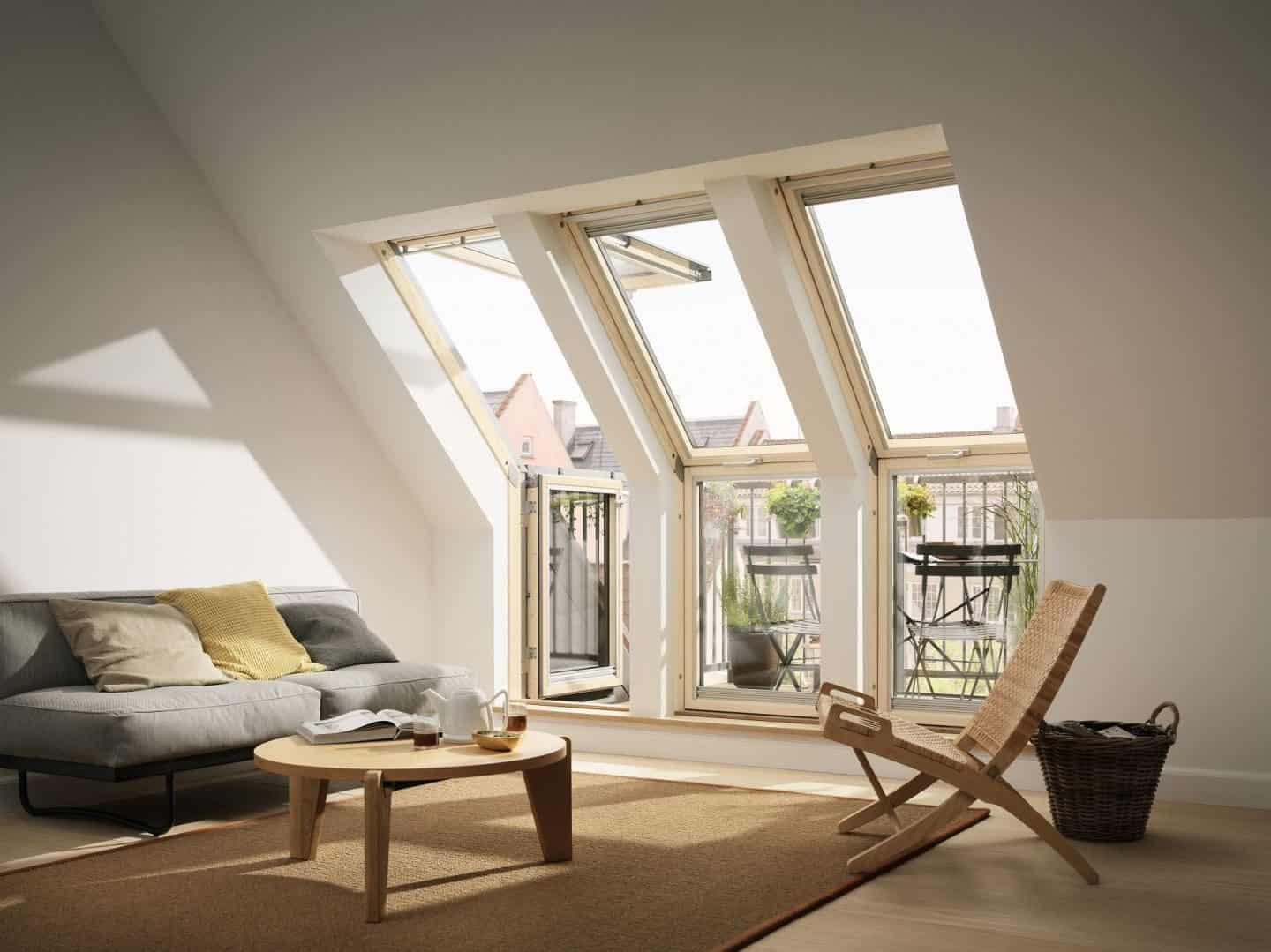 Loft Conversion - Living Room - Velux Terrace windows