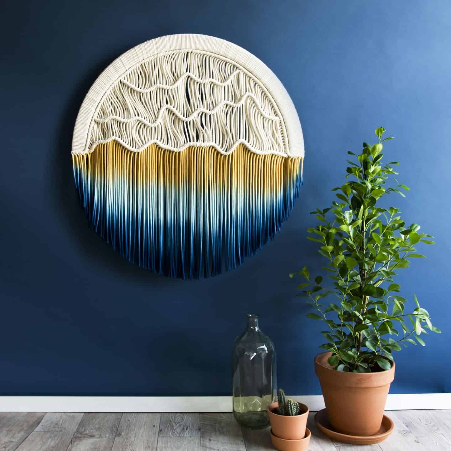 TEDDY AND WOOL contemporary woven wall hanging - Circular Sunset