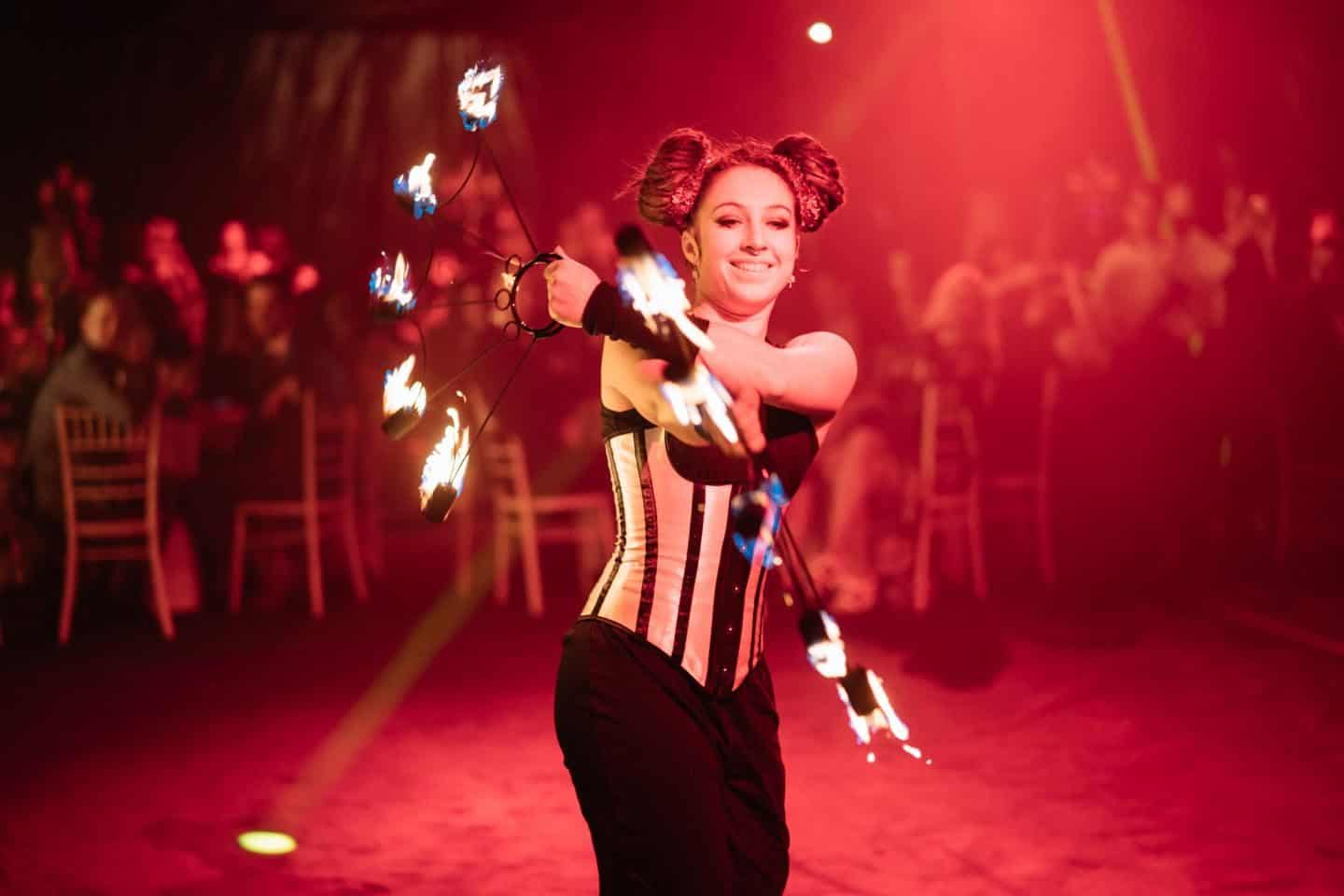 Vuelio Blog Awards 2018 at the Bloomsbury Big Top - fire juggling