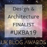UK Blog Awards Design & Architecture Finalist Badge