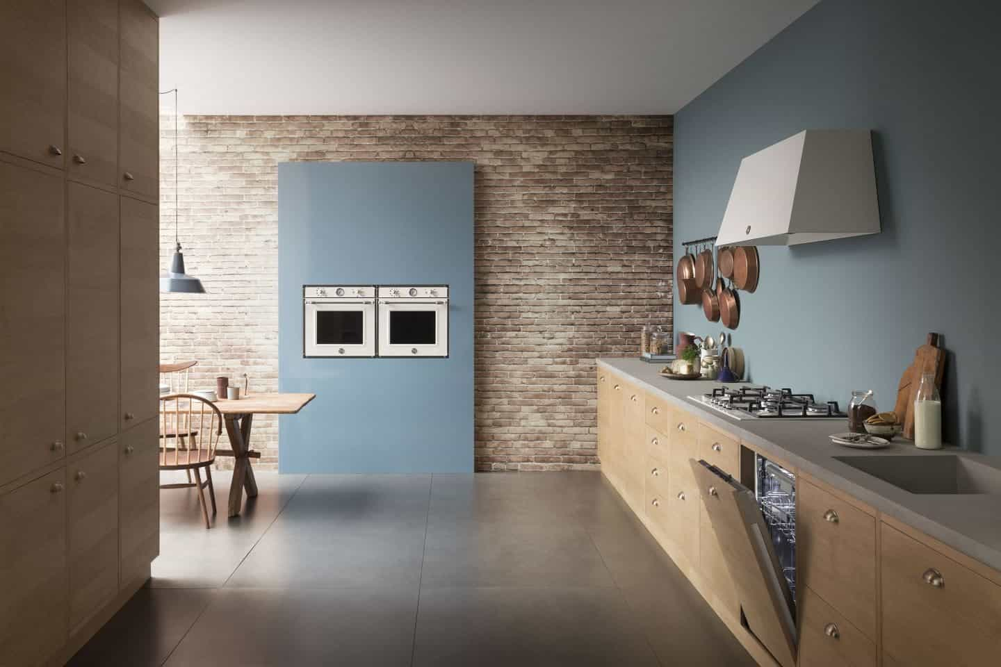The Bertazzoni built-in appliance range shown in situ in a modern kitchen.