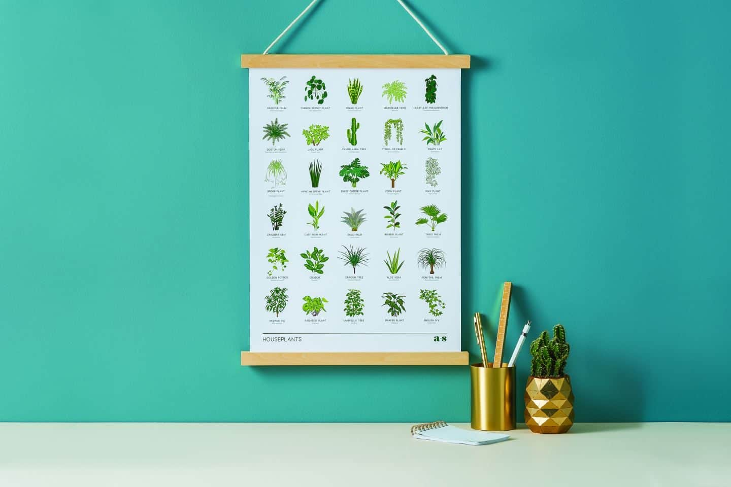 Gifts for plant lovers. This house plant print is from Another Studio