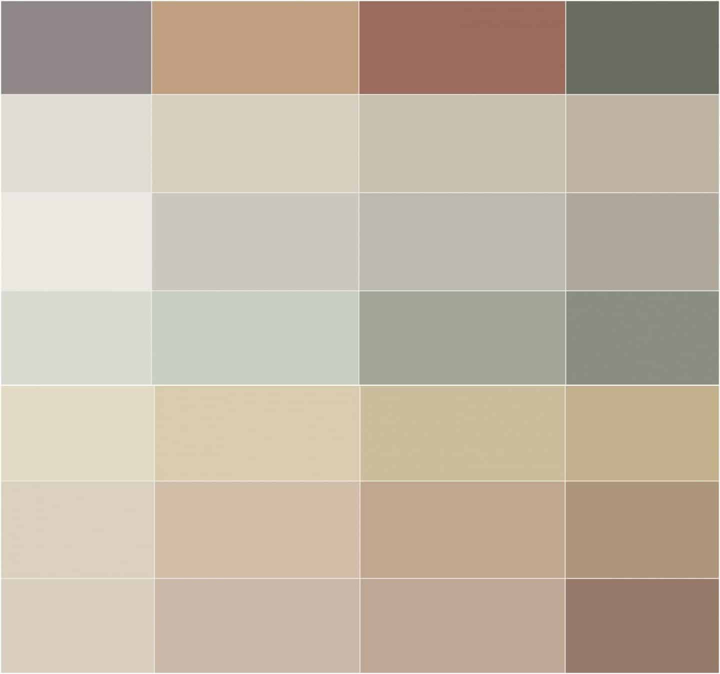 New Nordic Trend. The 2019 Lady Identity paint colour chart from Jotun.