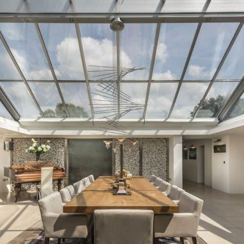 Pilkington Glass large glazed roof