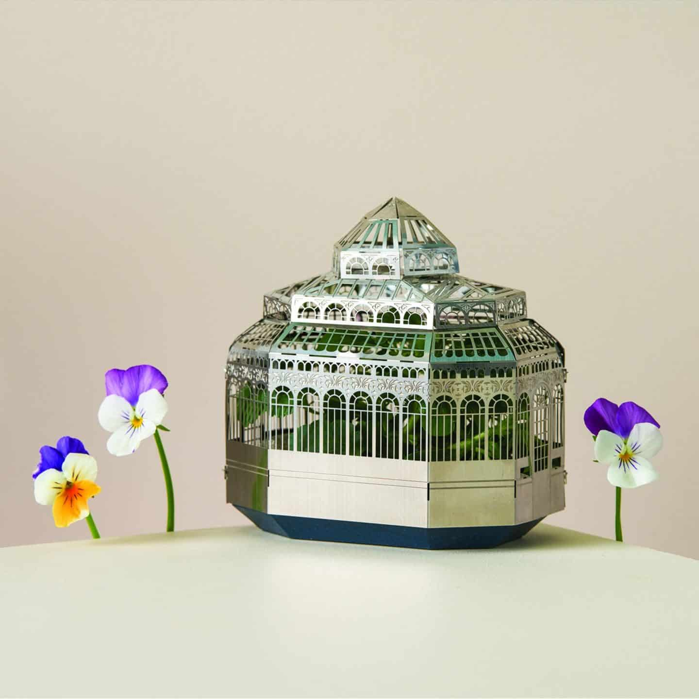Gifts for plant lovers. This metal miniature plant terrarium kit is from Another Studio