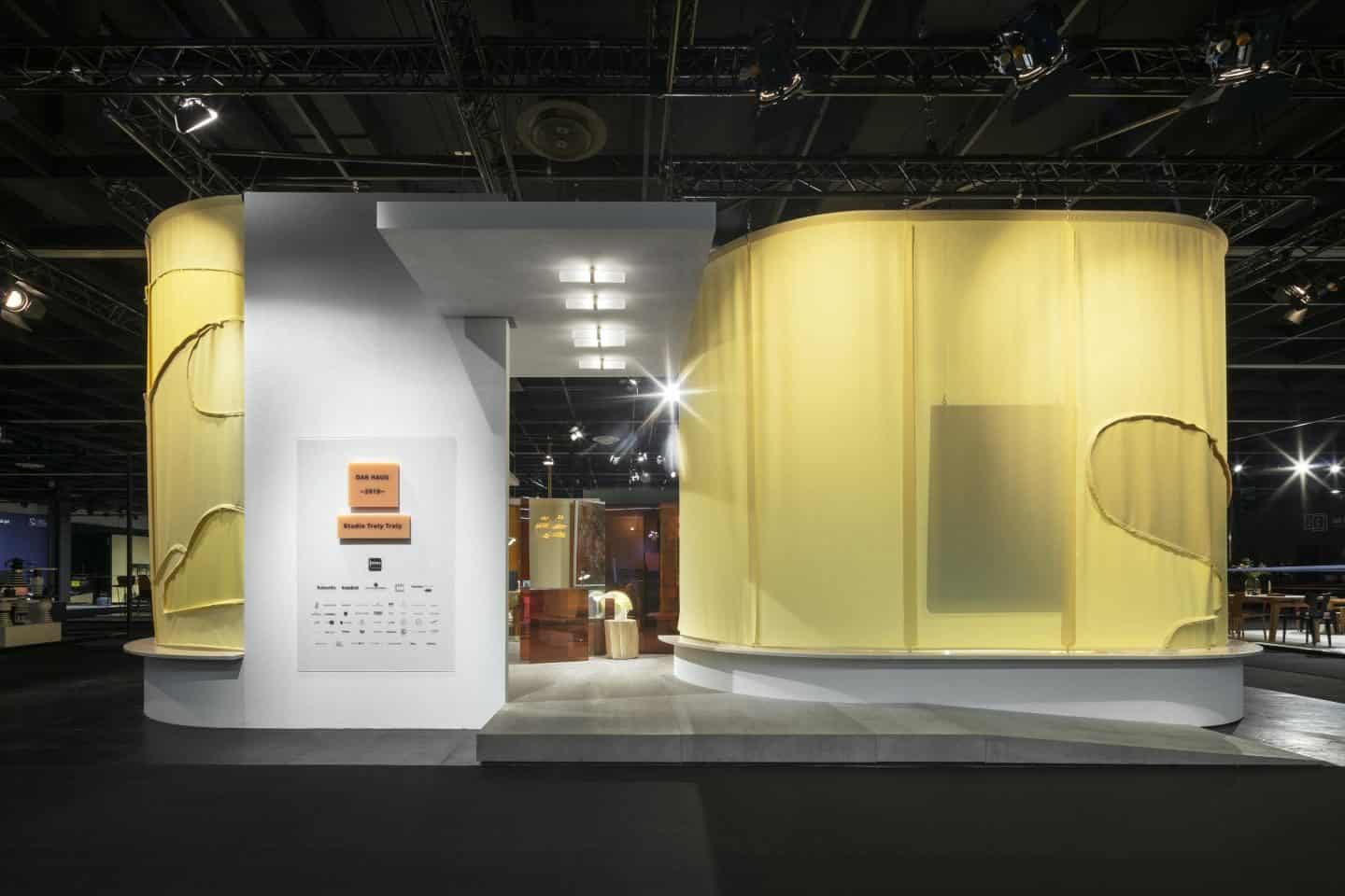 Imm Cologne Das Haus by Studio Truly Truly explored a new approach to open domestic living culture. The rooms flow into one another and are dictated by atmospheres rather than the function of the room.