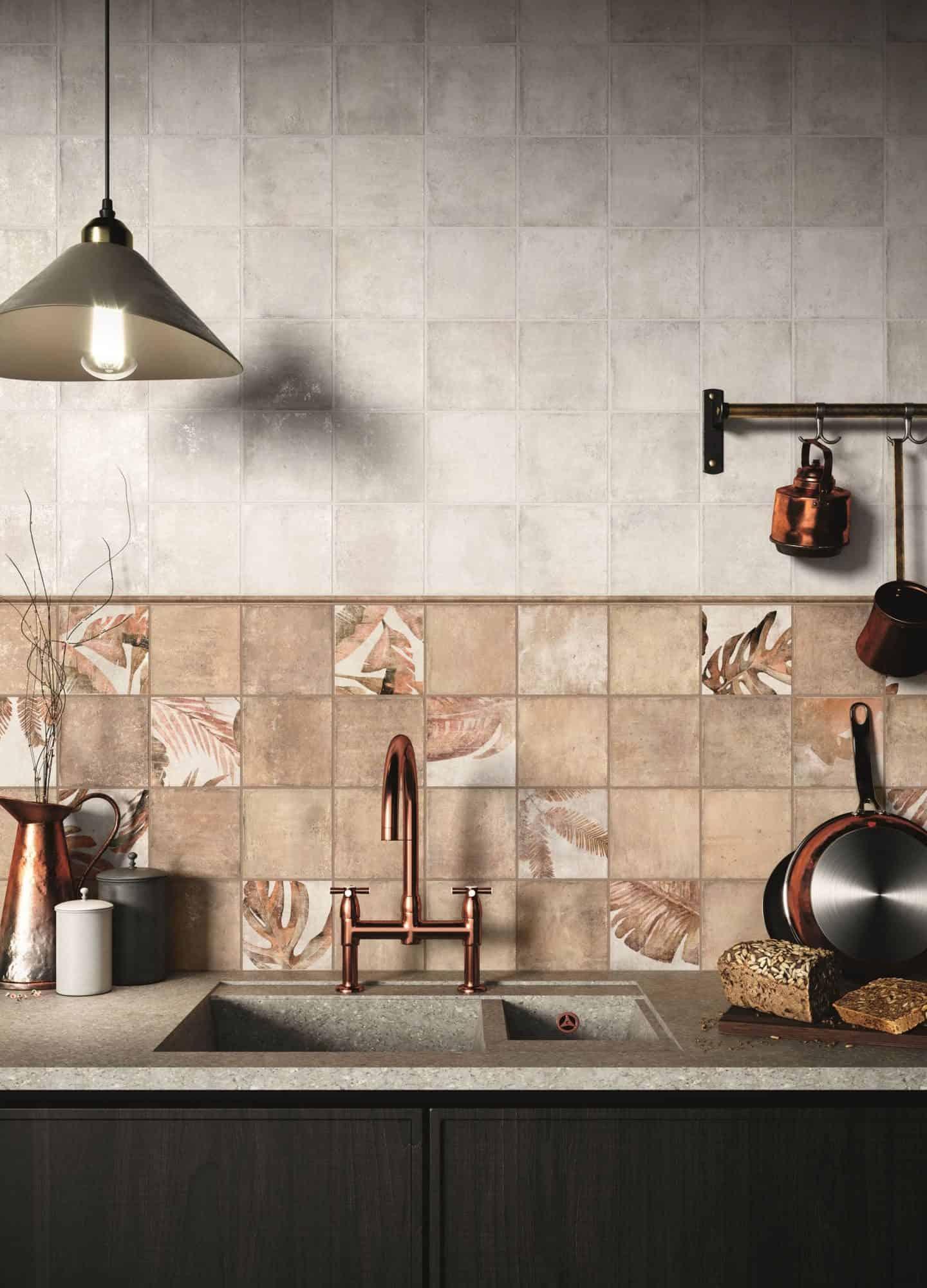 Amazonia botantical ceramic tiles