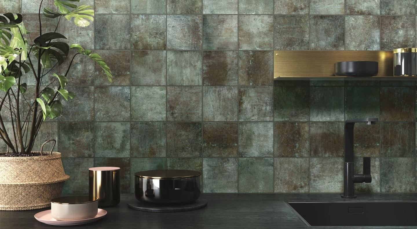 Amazonia ceramic tiles used as a kitchen basksplash