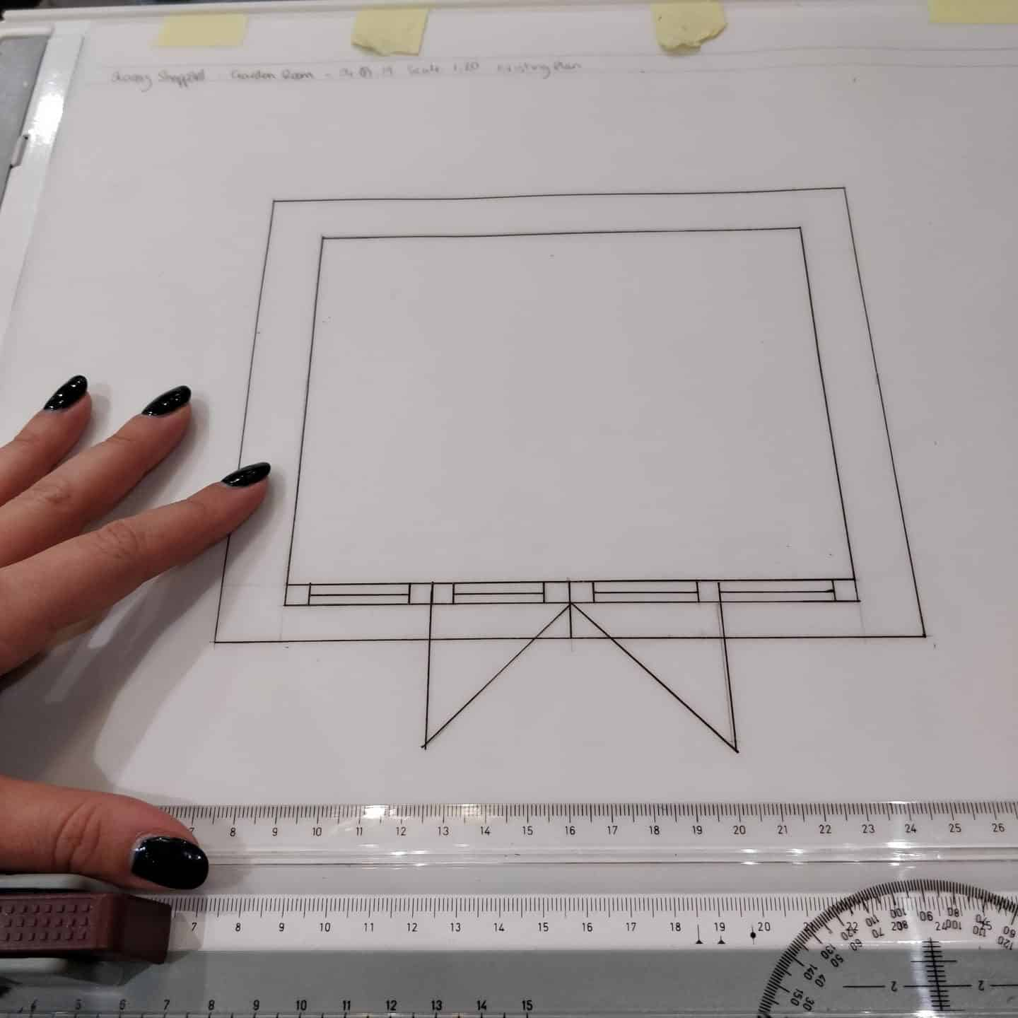 Scale Drawings at Juliette's Interior Design School in London