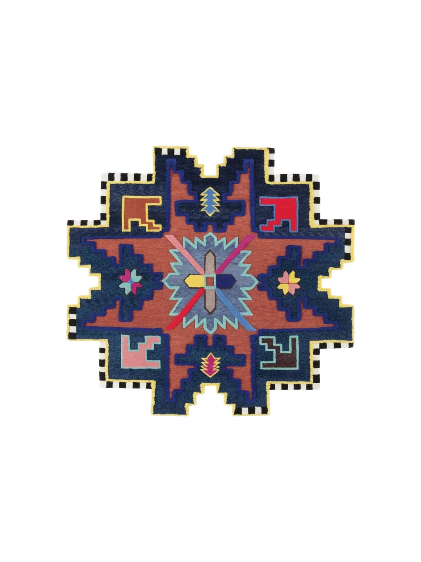 CC Tapic Kazak Shape Shifter rug - unusual shaped rug