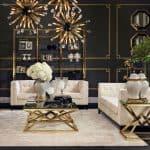Art Deco Interiors Eichholtz Aldgate Sofa - Ecru Velvet from Sweetpea & Willow