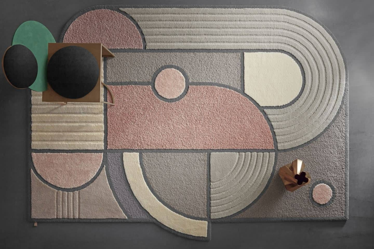 Kasthall West of the Sun rug by Lara Bohinc - unusual shaped rugs