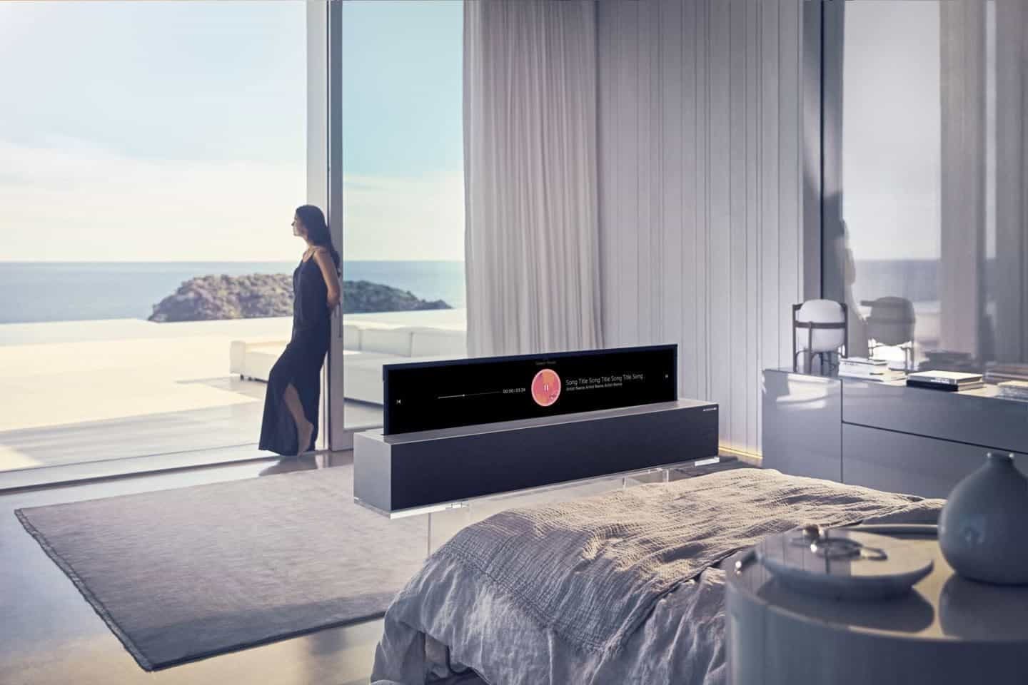 LG Signature Roll-up TV - innovative TVs