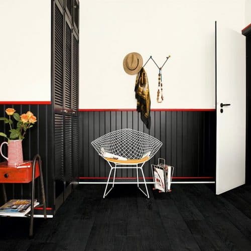 Quickstep flooring burnt black planks