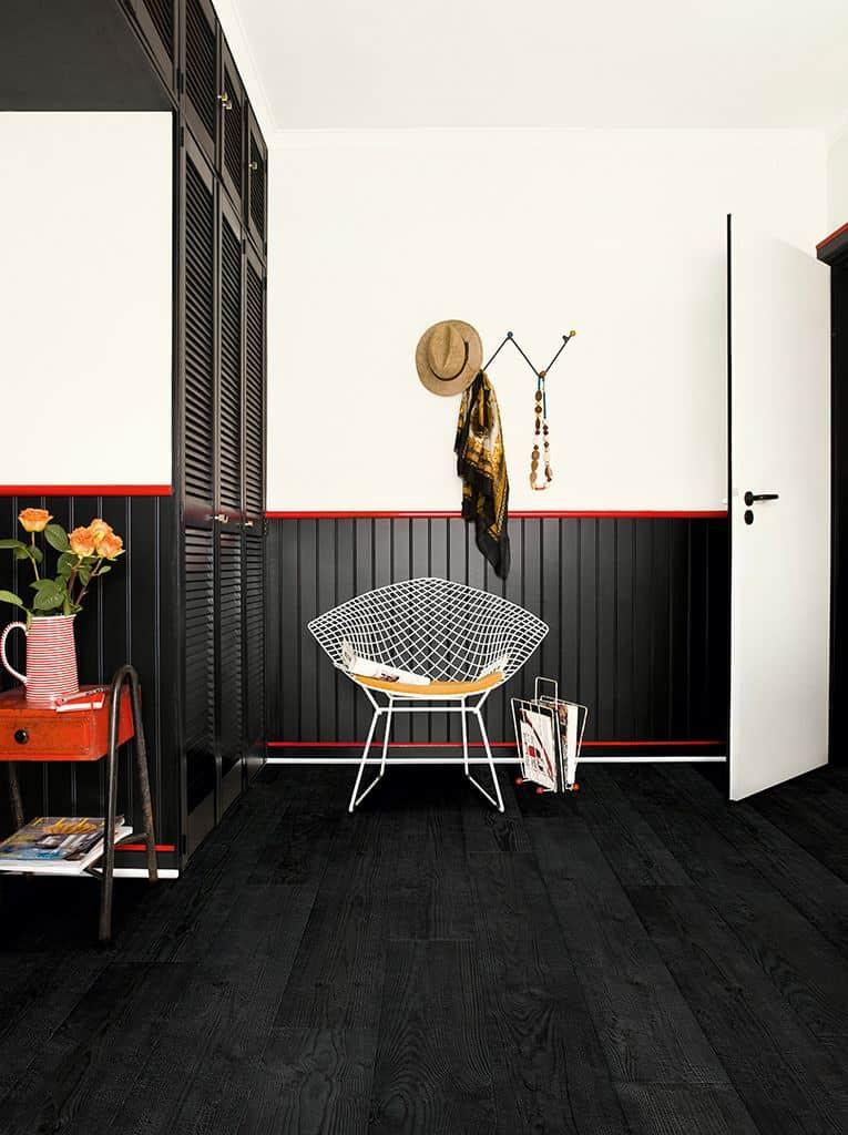 Quickstep flooring burnt black planks