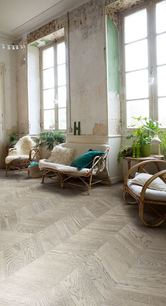 Flooring trends - quickstep flooring - chevron flooring