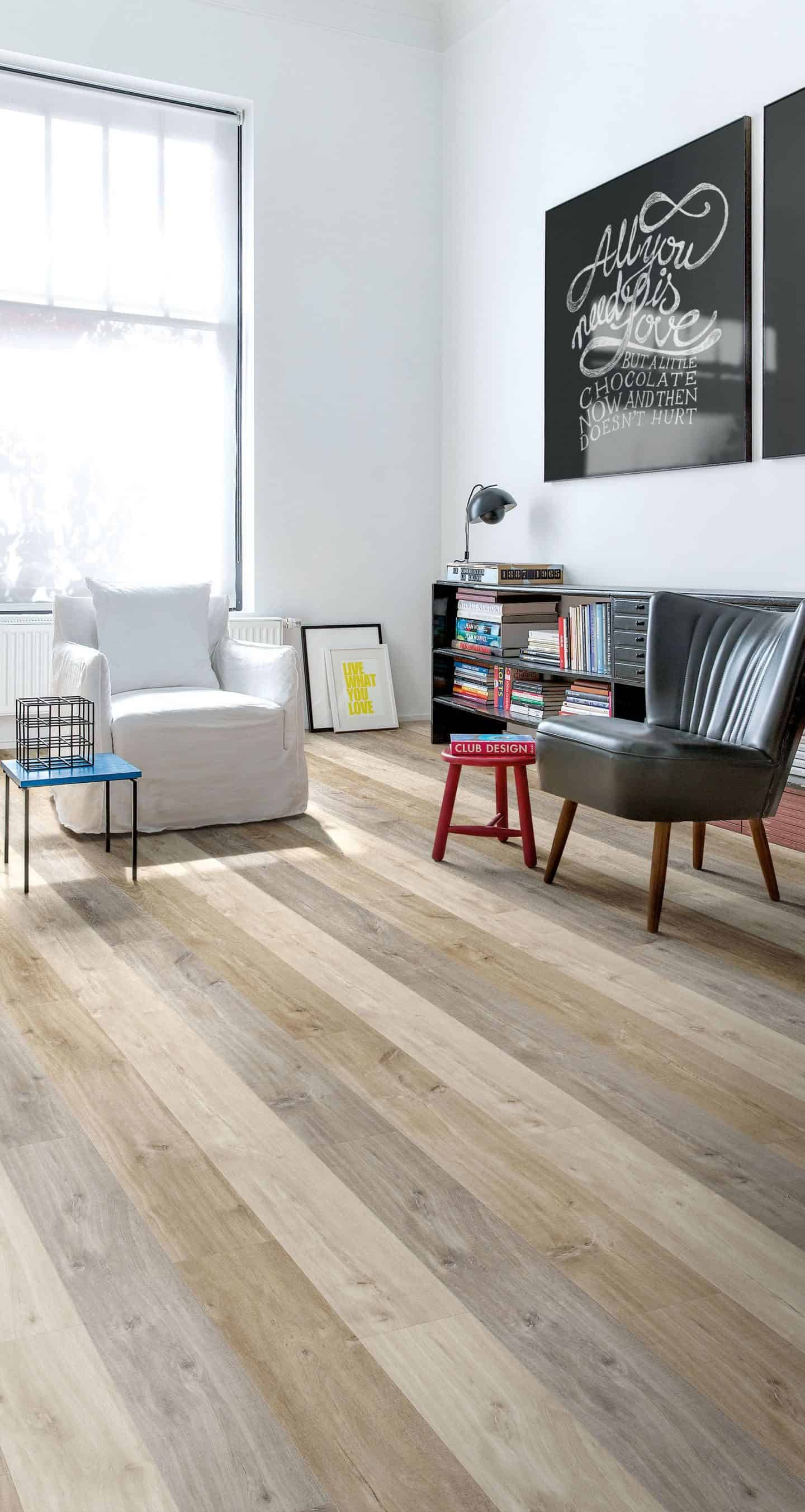 Flooring Trends - Quickstep Flooring using planks in different wood finishes to create a mix-and-match effect