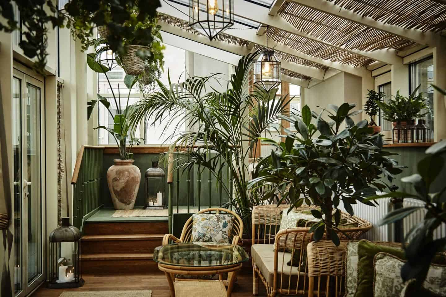 Sander Hotel, a design hotel in copenhagen. The roof terrace has a strong biophilic influence and boasts beautiful rooftop views over the city