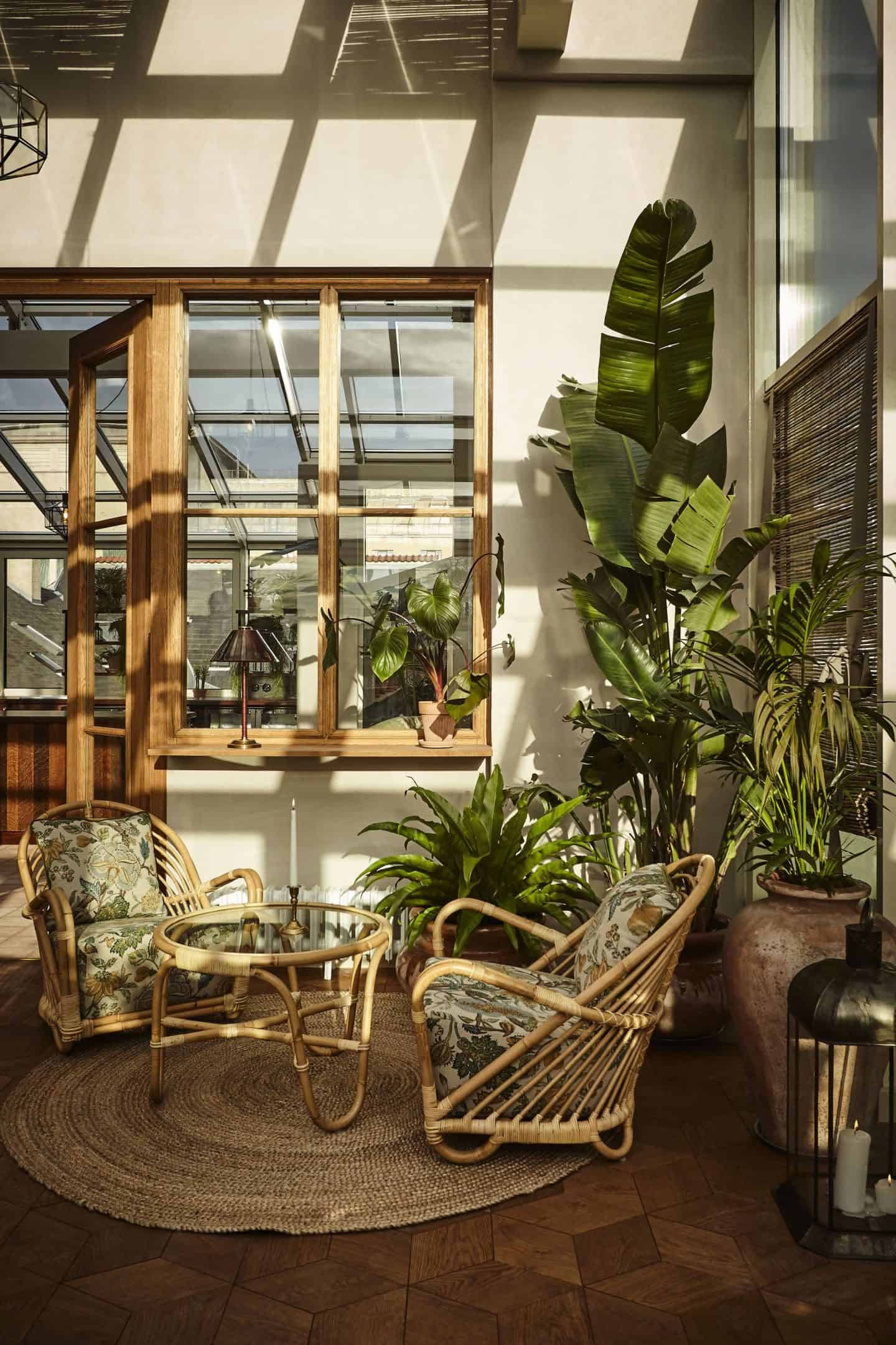 Sander Hotel, a design hotel in copenhagen. The roof terrace is full of plants and has fabulous views over the city