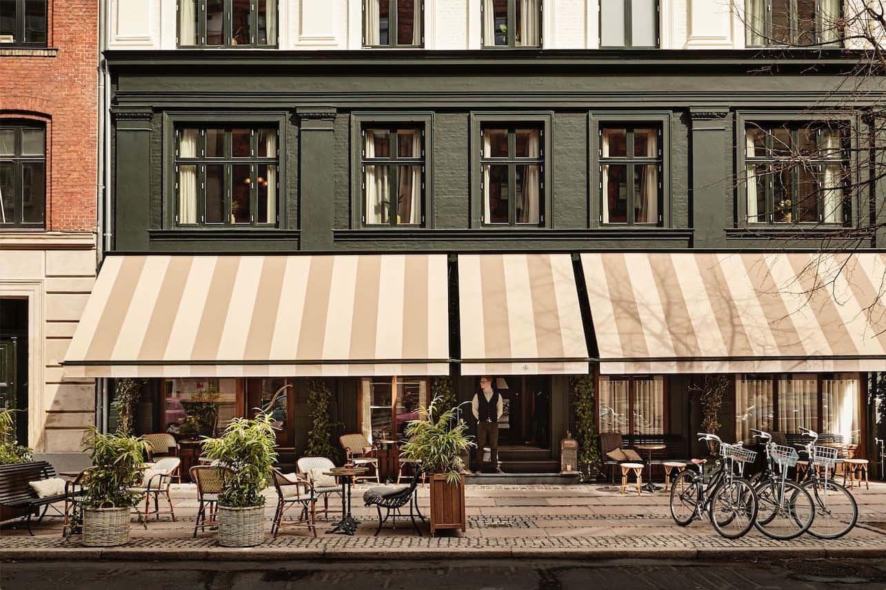 Sander Hotel, a design hotel in copenhagen. The outside of the building