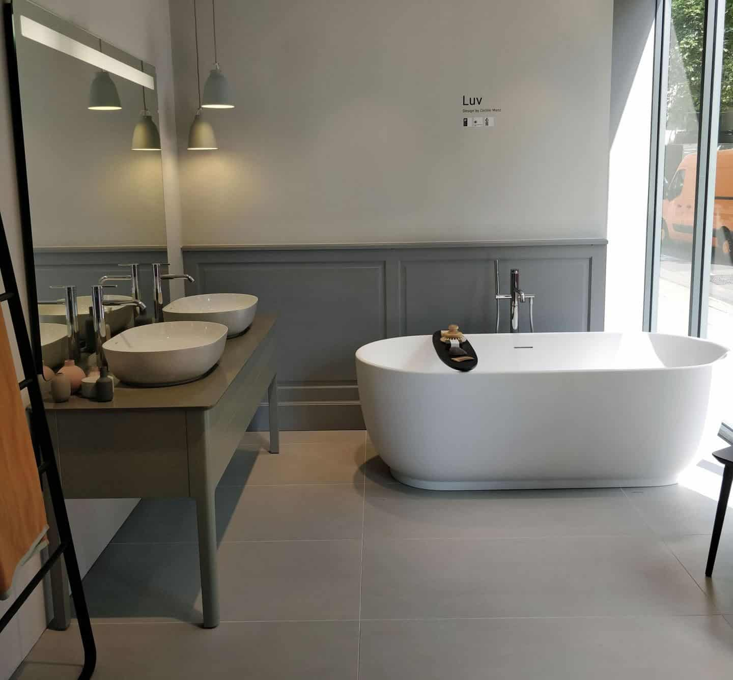 Luv bathroom collection in the Duravit Showroom in Clerkenwell