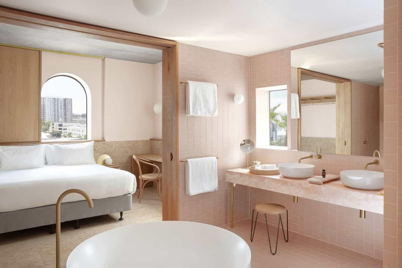 Suite at Calile tropical hotel in Brisbane, Australia