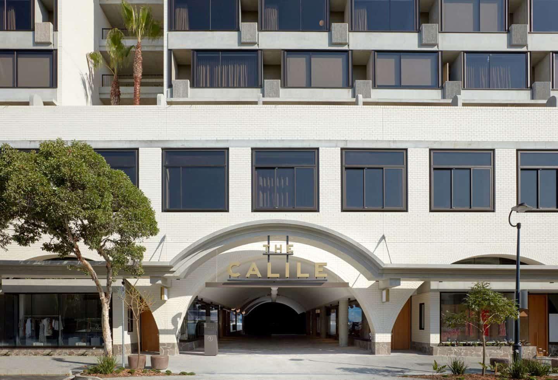 The outside of Calile tropical hotel in Brisbane, Australia
