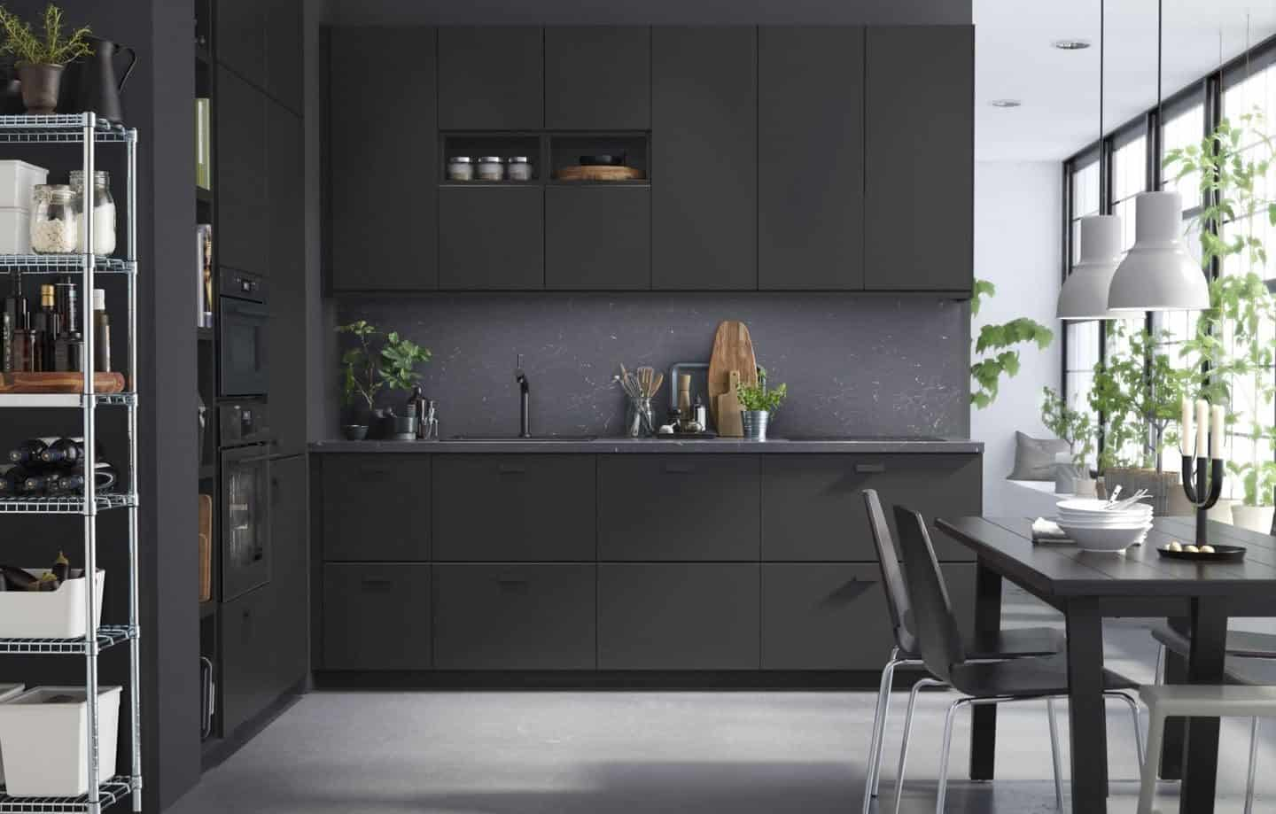 IKEA is transitioning to the Circular Economy model. The Kungsbacka kitchen fronts are made entirely from 100% recycled FSC(R) certified wood and PET-bottles.