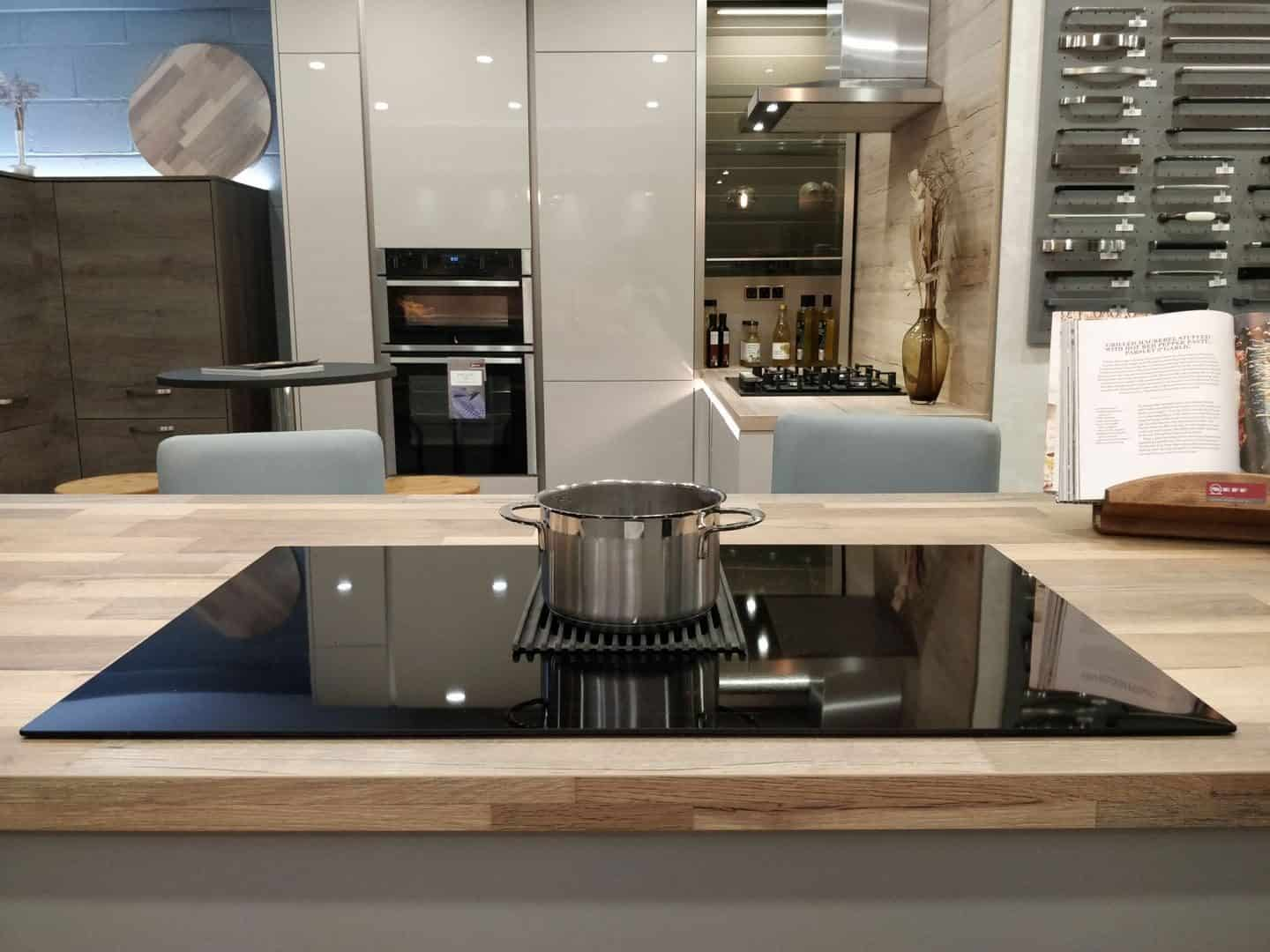 NikolaTesla Prime induction hob from Elica on display in the Kitchen Kit showroom in Truro