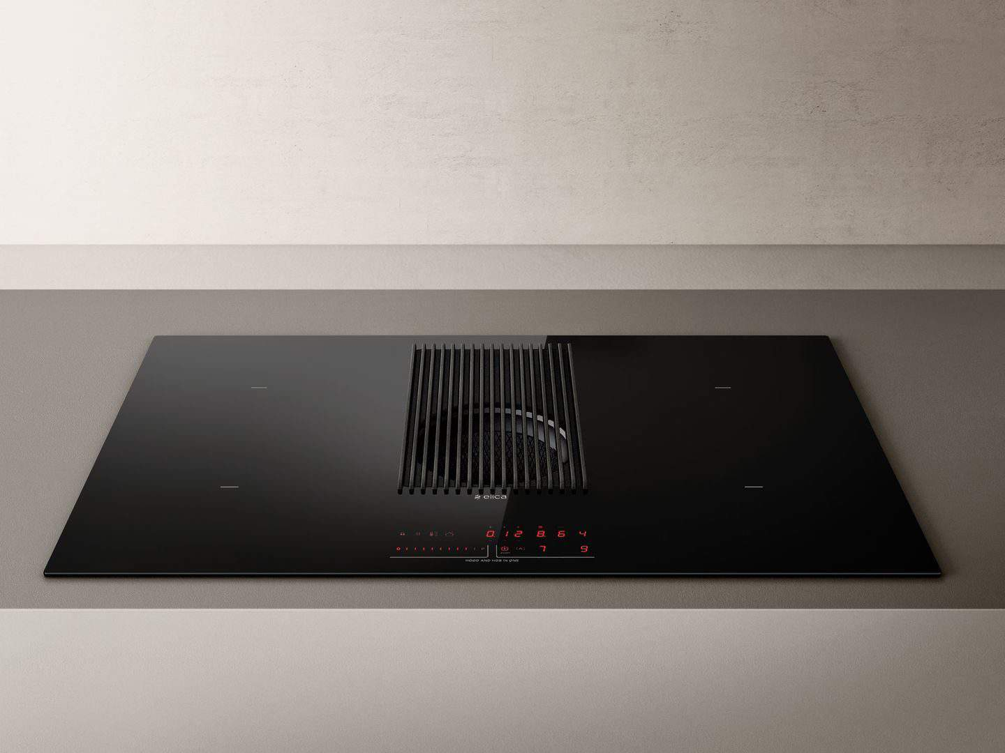 NikolaTesla Prime extractor hob from Elica with control panel illuminated