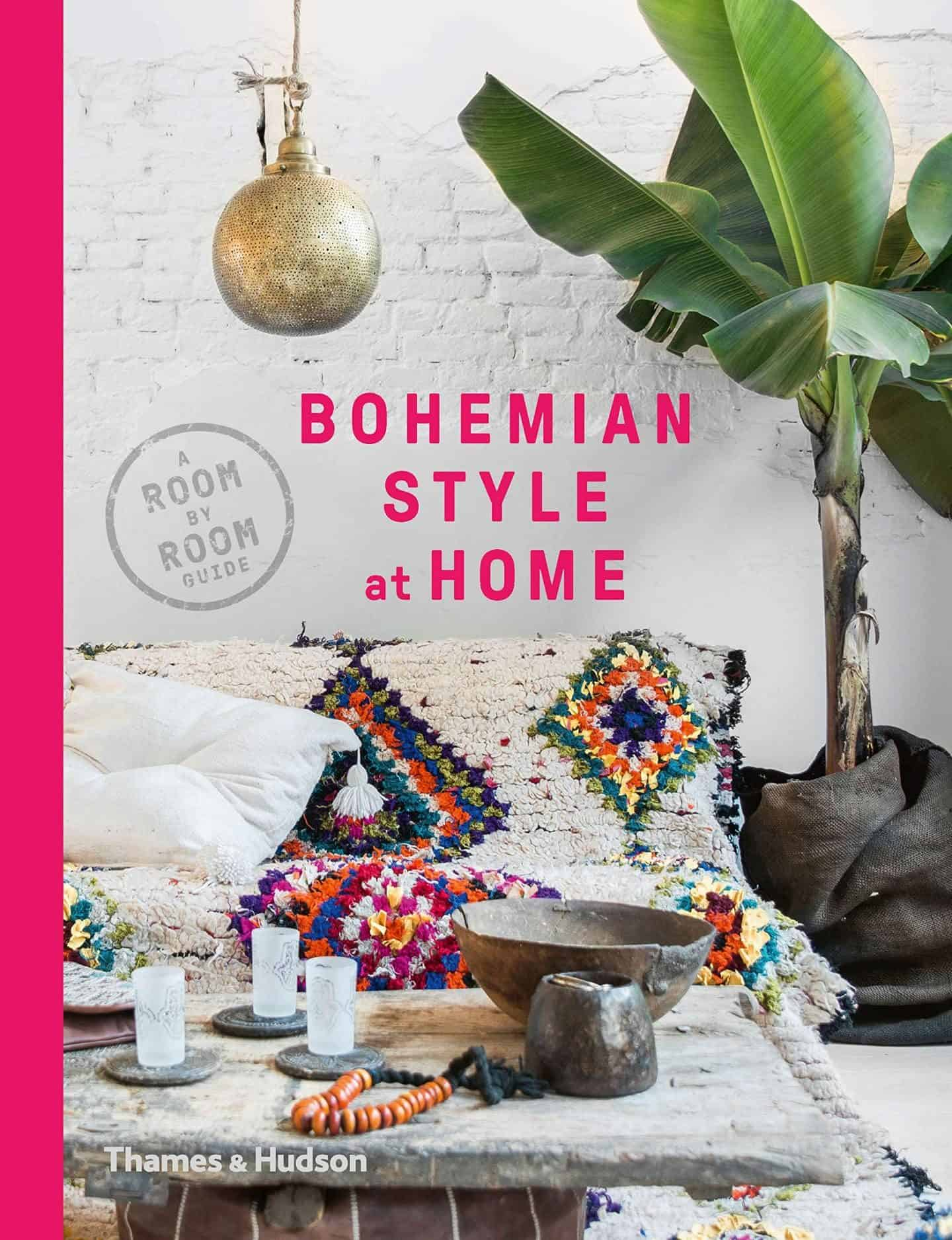 The book cover of Bohemian style at home by Kate Young