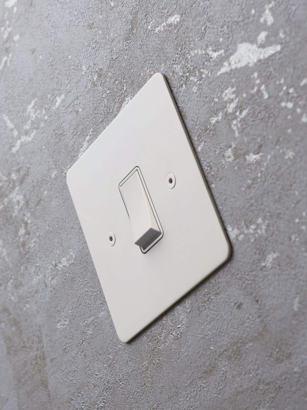 Designer Electrical Wiring Accessories from Focus SB  - light switch in matt white