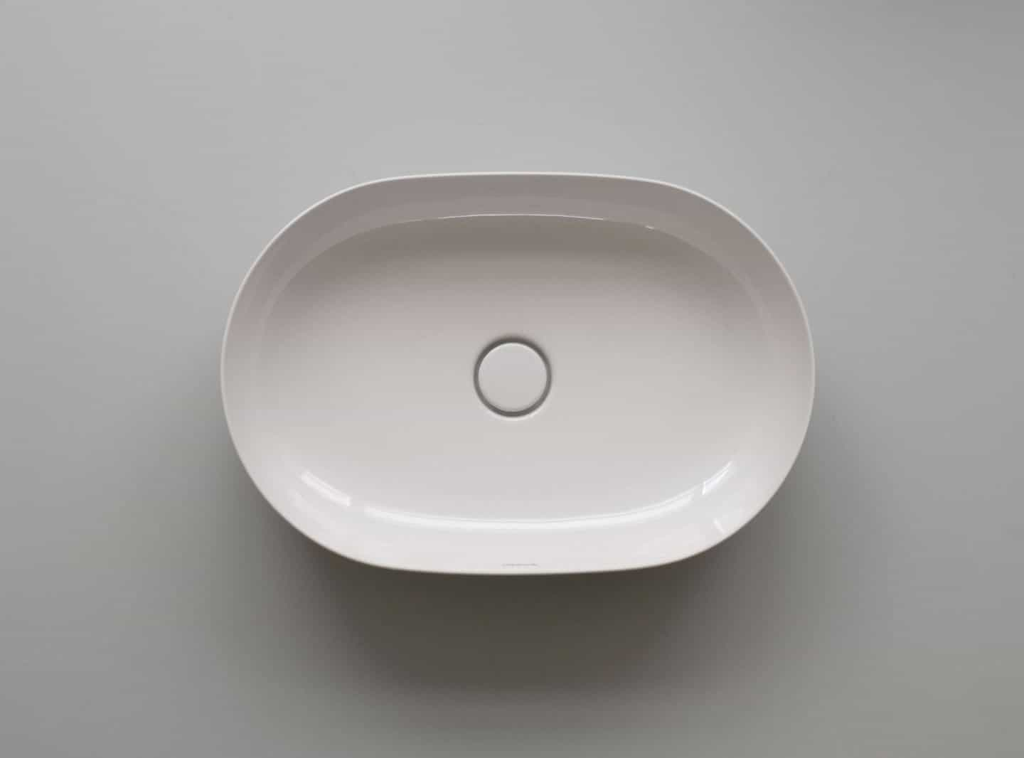 Ariel image of the basin from The Luv collection by luxury bathroom brand Duravit.