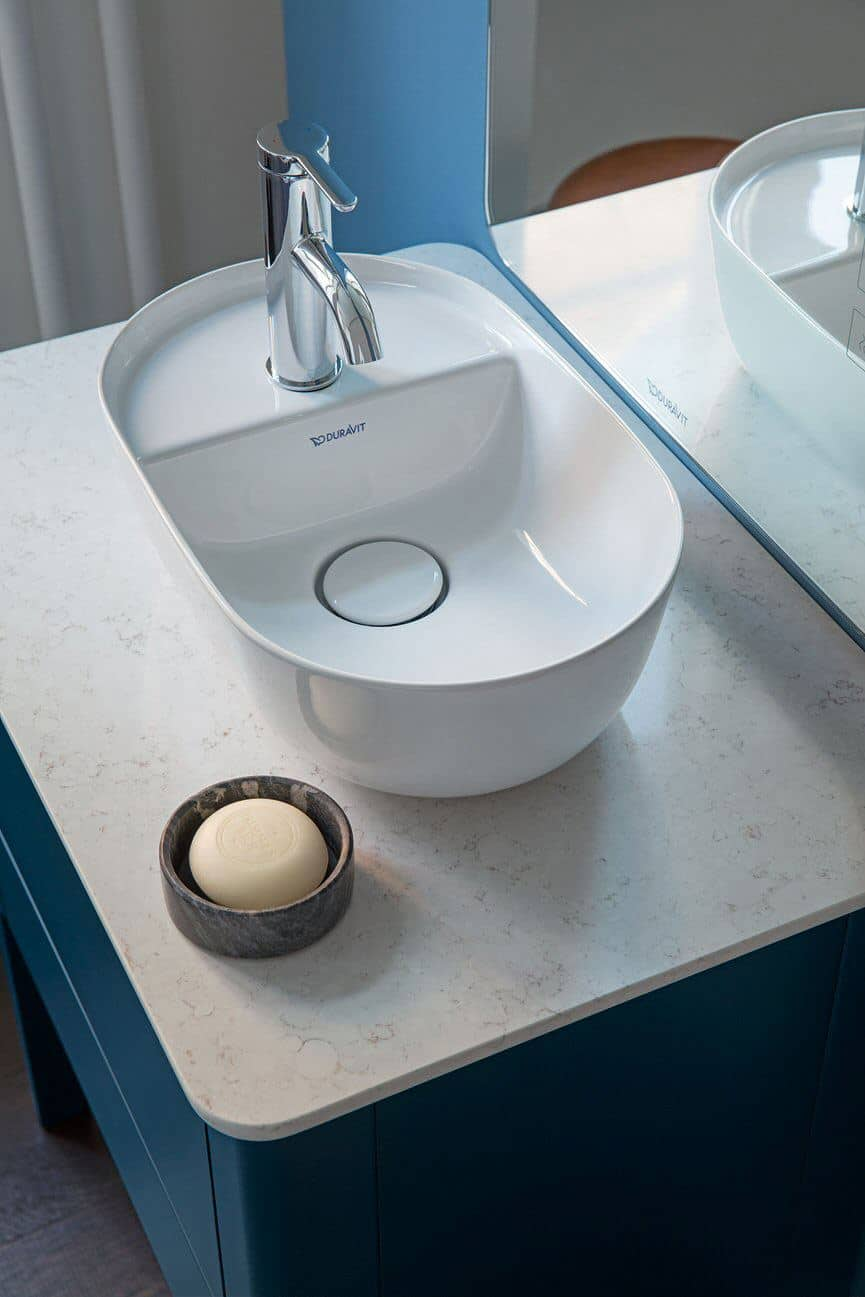 Small bathroom basin from The Luv collection by luxury bathroom brand Duravit.