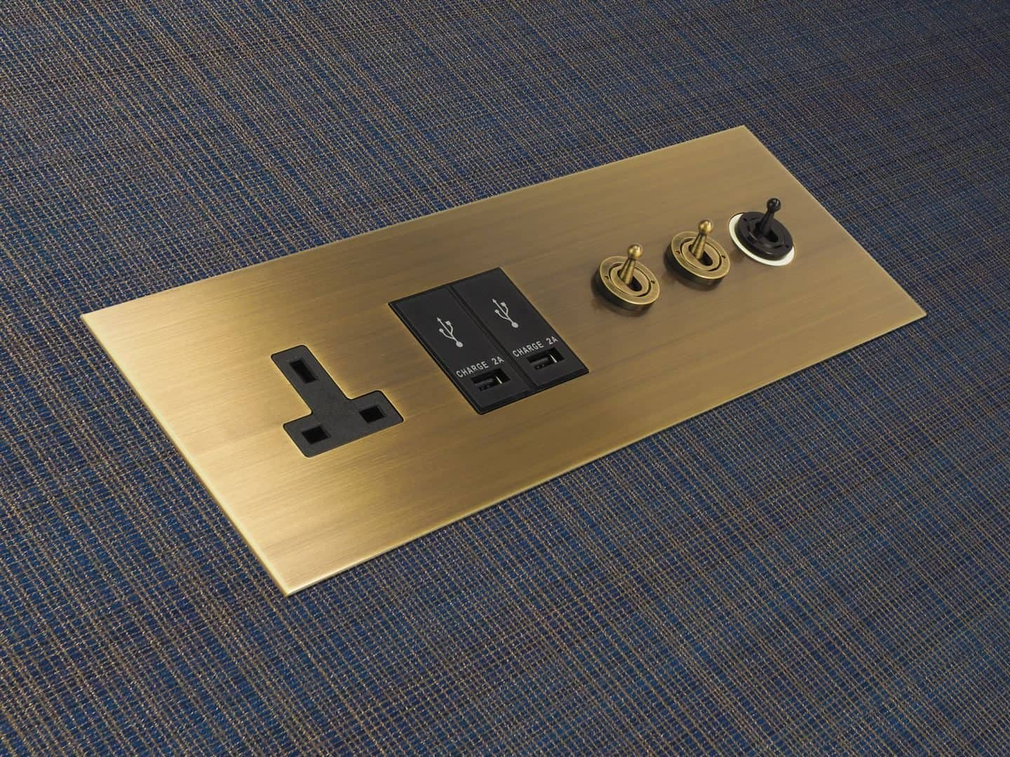 Designer Electrical Wiring Accessories from Focus SB come in 20 different finishes
