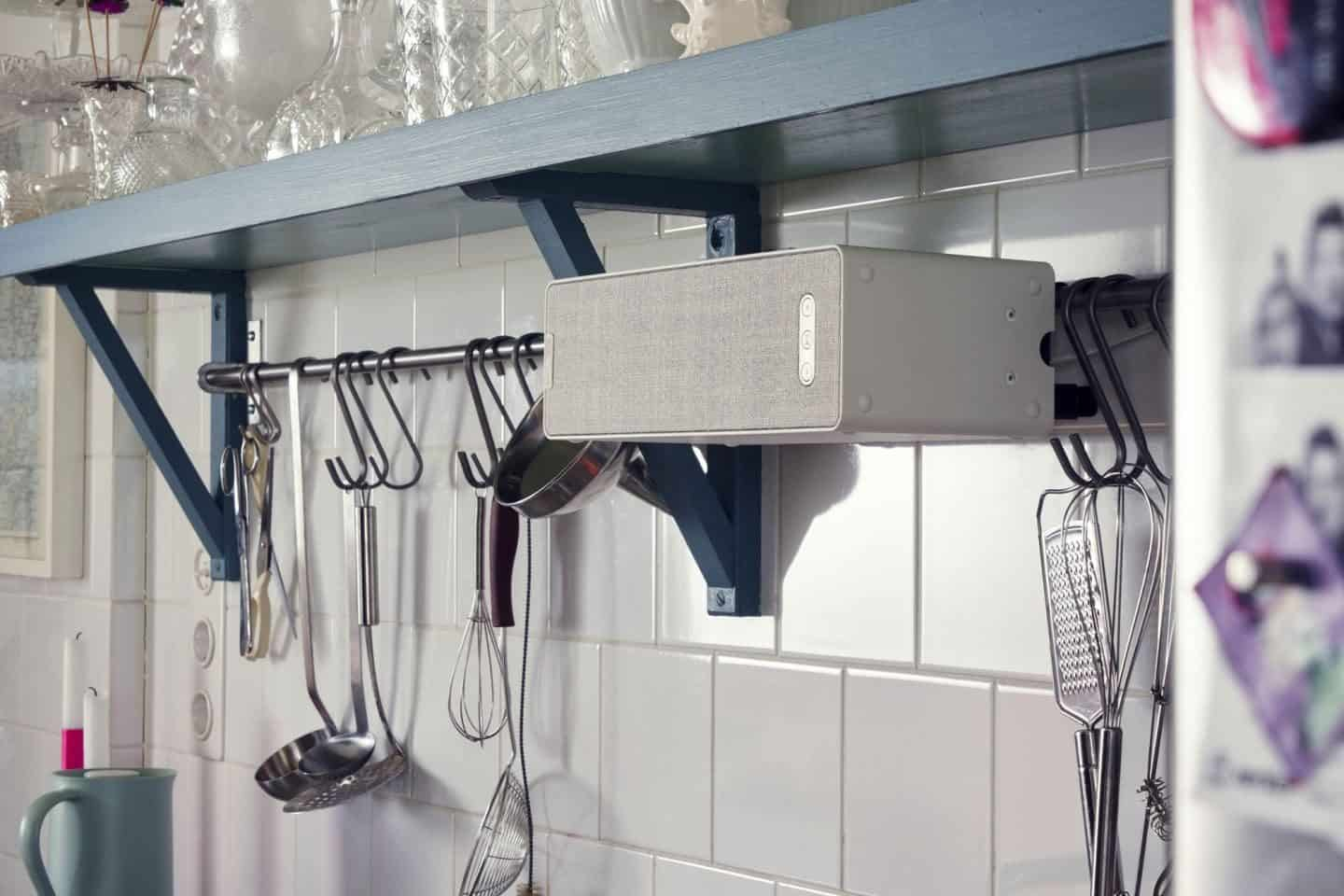 Symfonisk speakers by IKEA and SONOS can be wall mounted in the kitchen