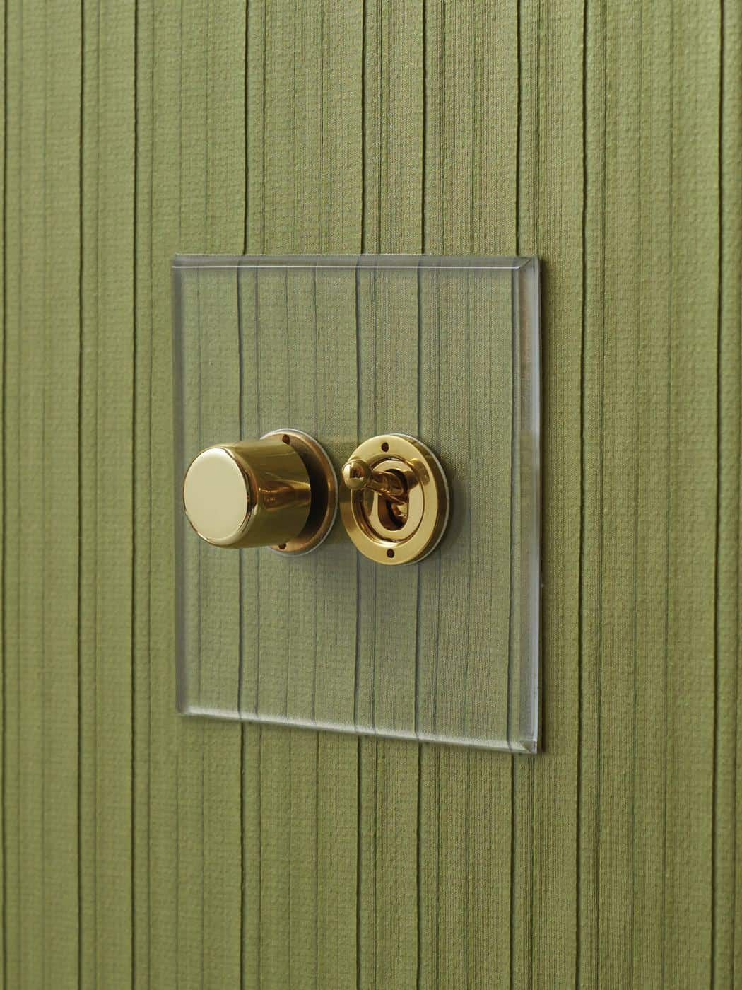 Designer electrical wiring accessories from Focus SB - Prism transparent faceplate for light switch