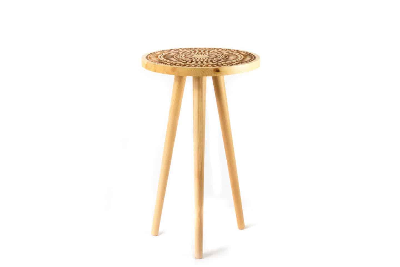 Nihal Shah bohemian wooden stool