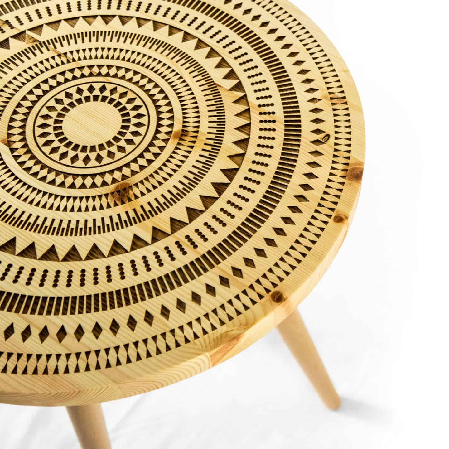 Nihal Shah tribal wooden stool
