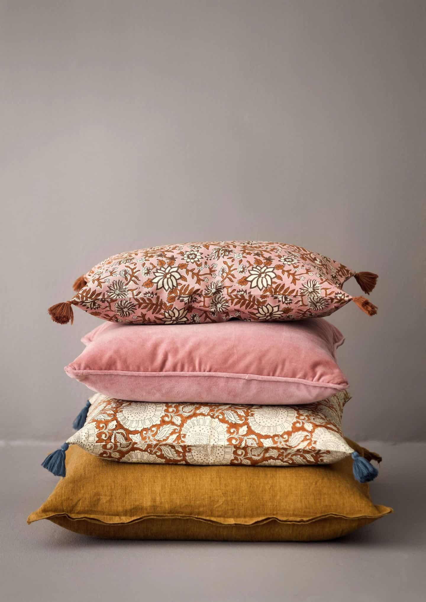 Shekabba danish Homewares - a stack of vintage cushions