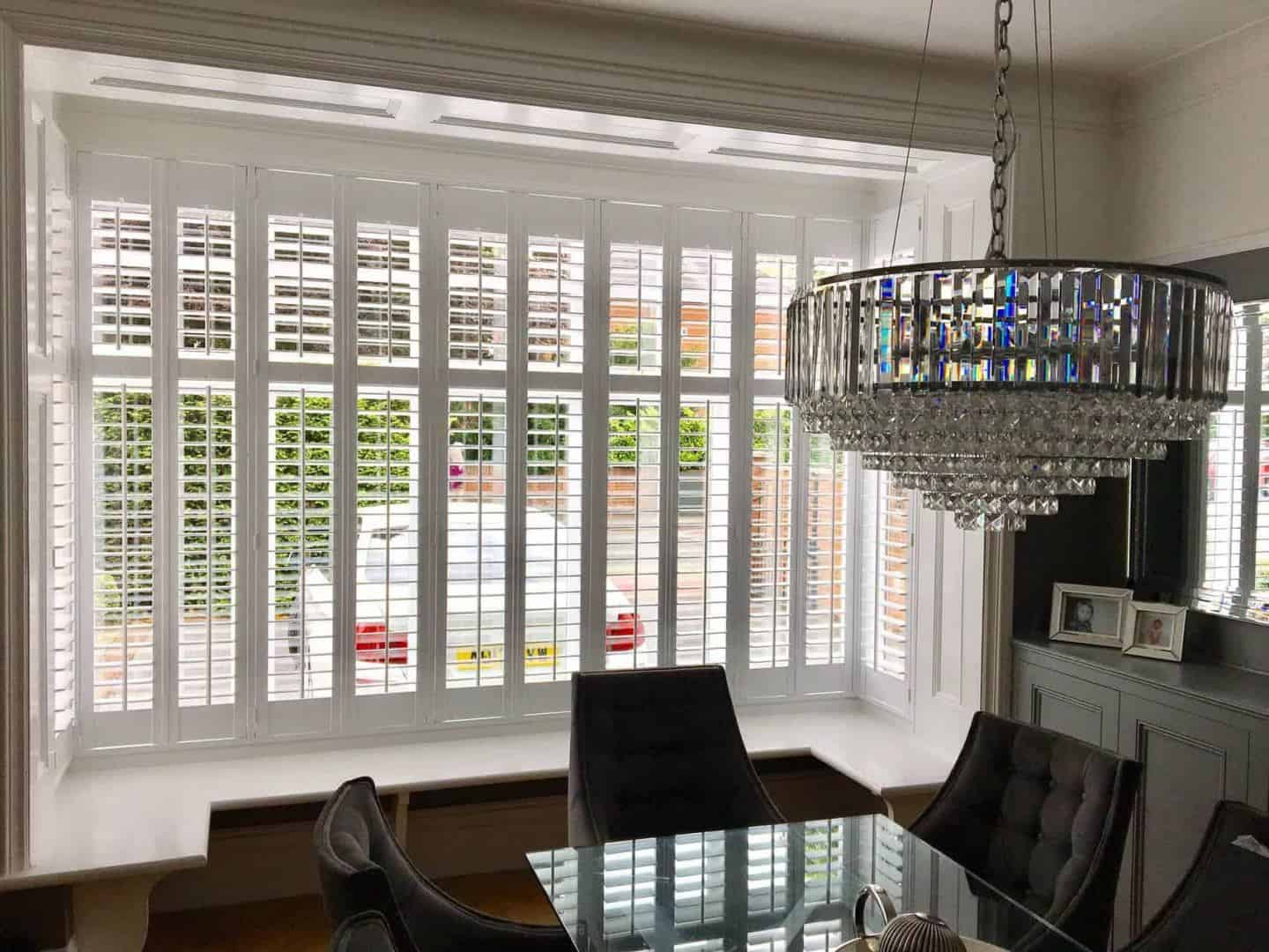 Diamond Shutters in a dining room - how to choose the right window shutters for your home
