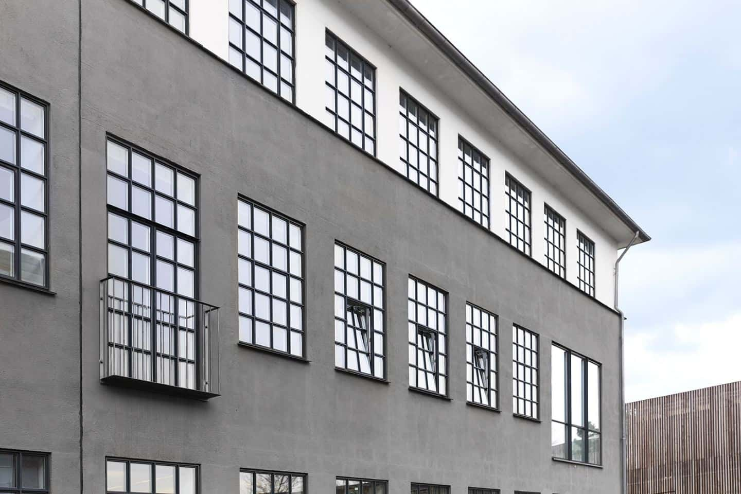 Exterior of the home of Vipp Owner Jette Egelund which is an apartment in a converted factory