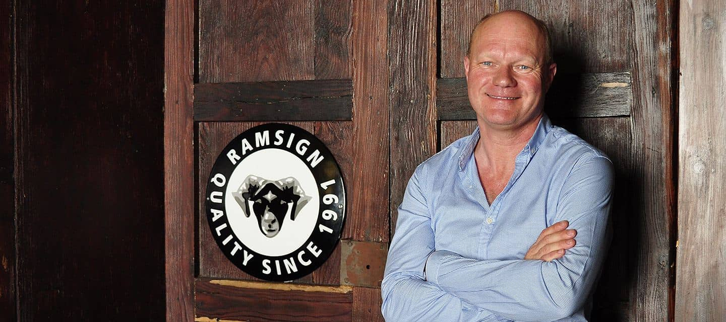 Nick Brandt Founder of Ramsign, a company that produces enamel signs for homes and businesses
