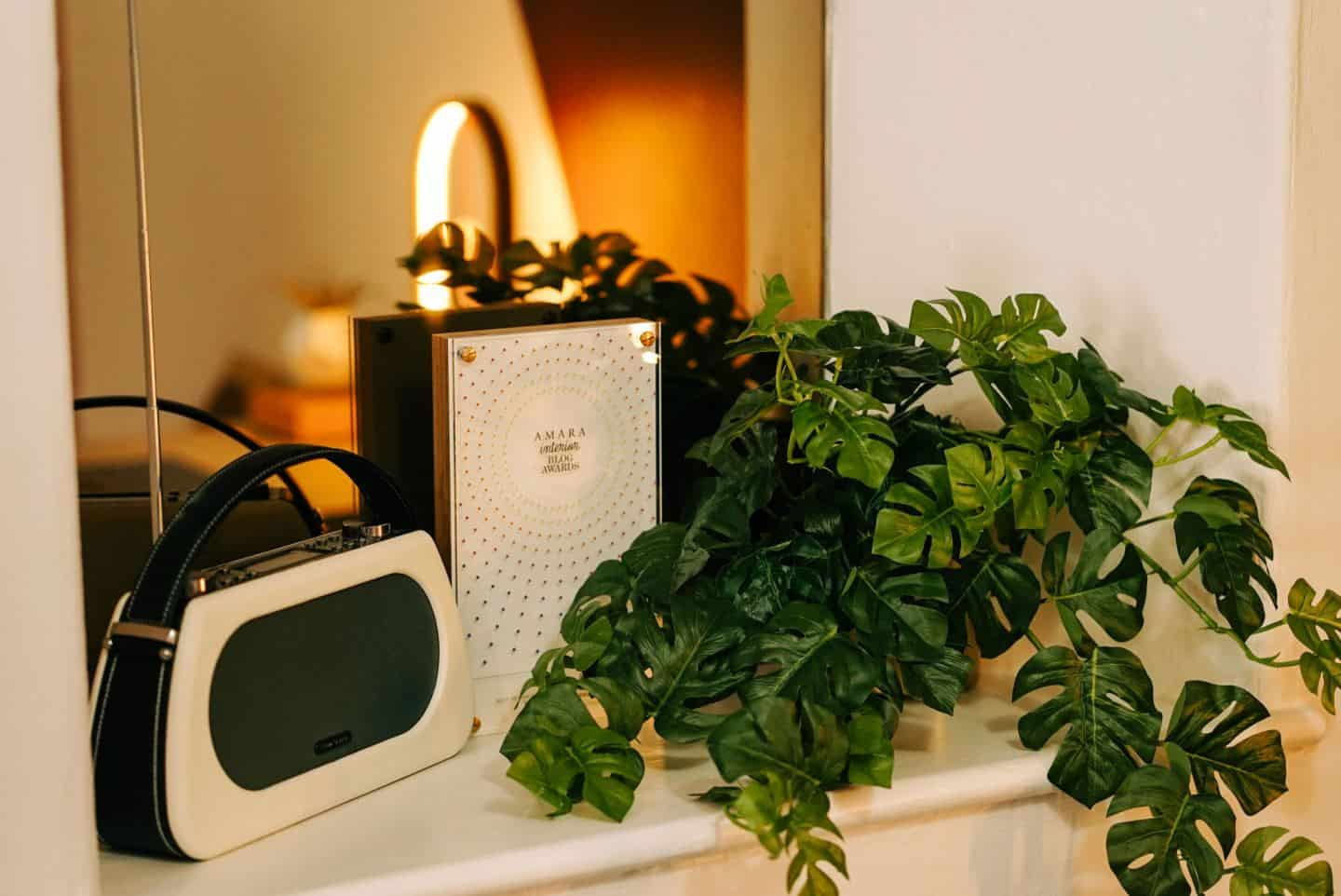 Plants and a stereo at The Tribe, a coworking space in Totnes for female entrepreneurs
